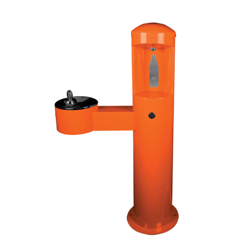 Stainless Steel Outdoor Bottle Filler With Adult ADA Compliant Drinking Fountain (CWBF-2-HC)